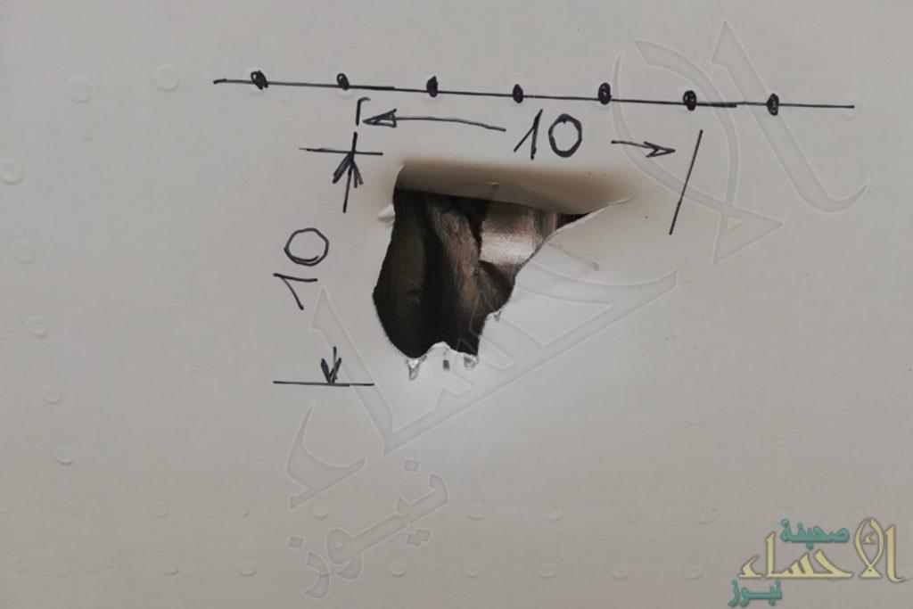 ثقب في طائرة للخطوط السعودية .. وهكذا تم تدارك الموقف !!