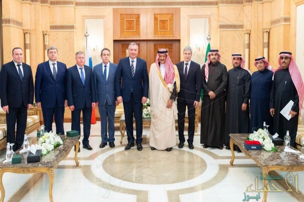 سلطان بن سلمان يلتقي مدير عام مؤسسة الفضاء الحكومية الروسية