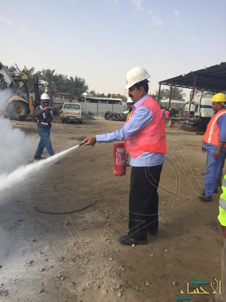 """مقاولي """"مياه الأحساء"""" يتدربون على """"إجراءات السلامة بمواقع العمل"""
