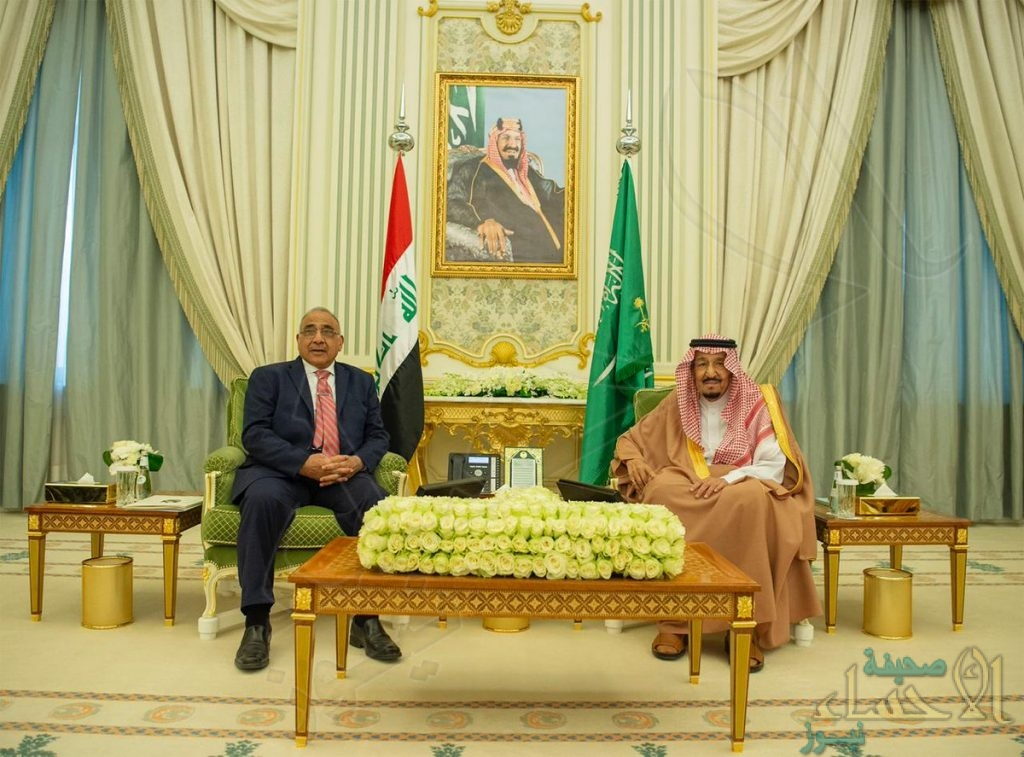 خادم الحرمين ورئيس الوزراء العراقي يعقدان جلسة مباحثات رسمية