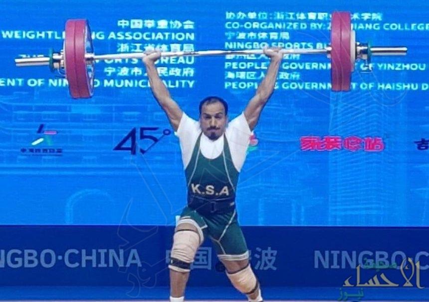 """شاهد.. الرباع السعودي """"آل سليم"""" يحصد 3 ميداليات ذهبية في بطولة آسيا لرفع الأثقال"""