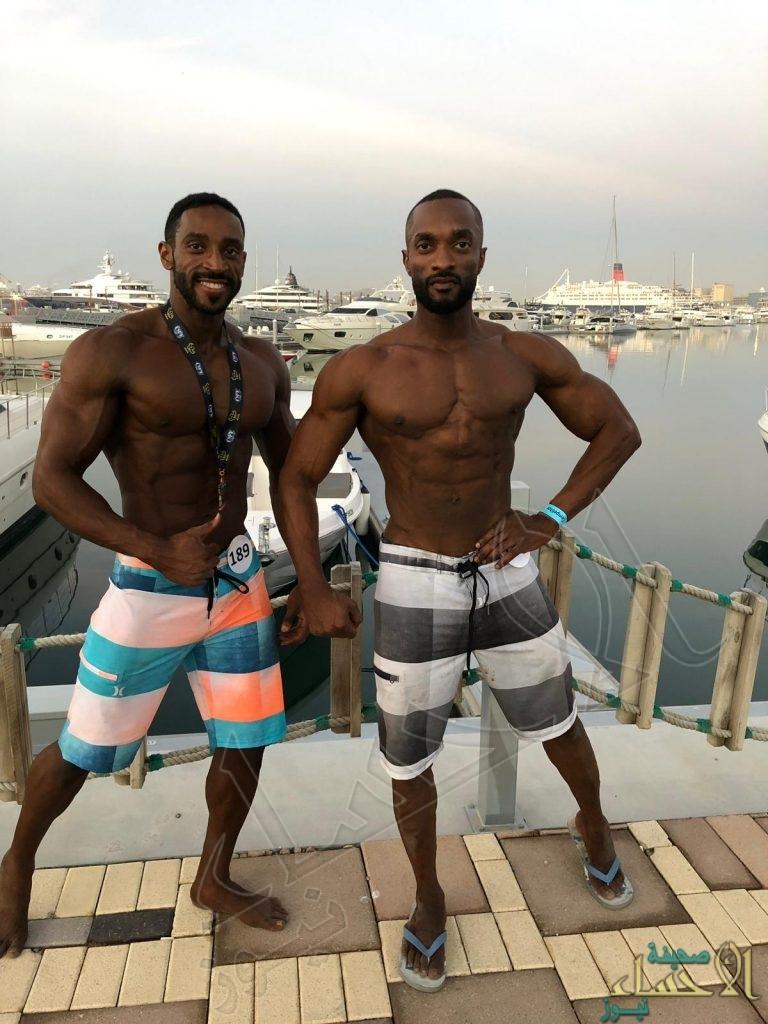 """""""4"""" لاعبين من """"الجبيل"""" يحصدون جوائز بطولة """"دبي لكمال الأجسام"""""""