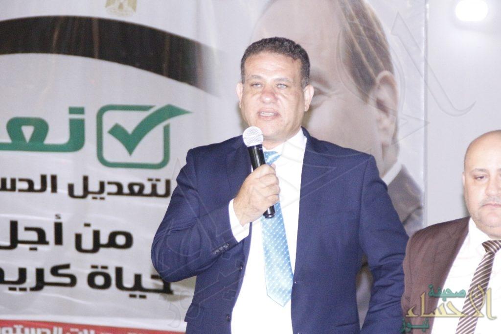 """""""الاتحاد العام للمصريين"""" يُكرّم """"الأحساء نيوز"""" ويدعم استفتاء القاهرة على """"الدستور"""""""