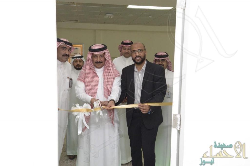"""بالصور … """"العمير"""" يفتتح العيادة المتنقلة وحملة التبرع بالدم في معهد """"NITI"""" الوطني"""