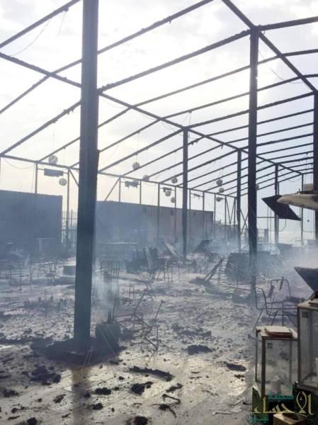 فتح تحقيق في ملابسات حريق الخيمة الرمضانية في الشرقية