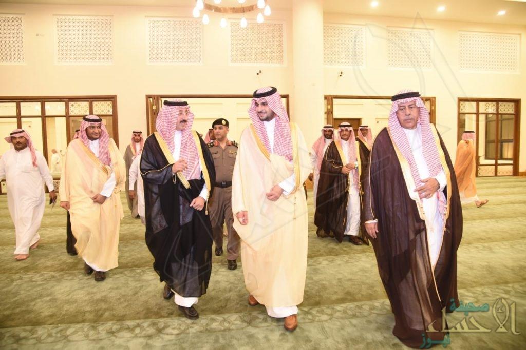 """سمو """"محافظ الأحساء"""" يفتتح جامع """"الأمير سلطان بن عبدالعزيز"""" بالعيون"""