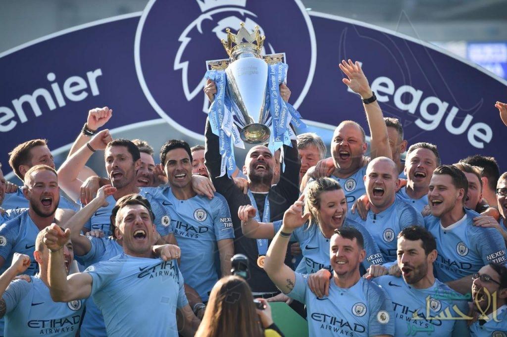 بالصور… السيتي بطلًا دوري 2019