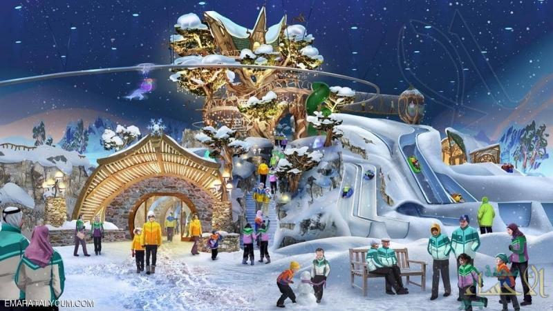 أبو ظبي تحتضن أكبر حديقة ألعاب ثلجية مغطاة بالعالم