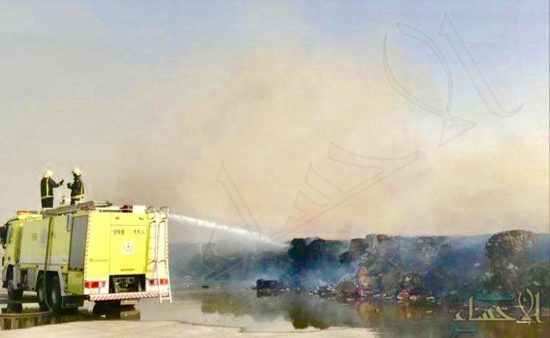 """حريق بشركة """"ورق"""" في الشرقية .. و """"الدفاع المدني"""" يكشف حجم الخسائر"""