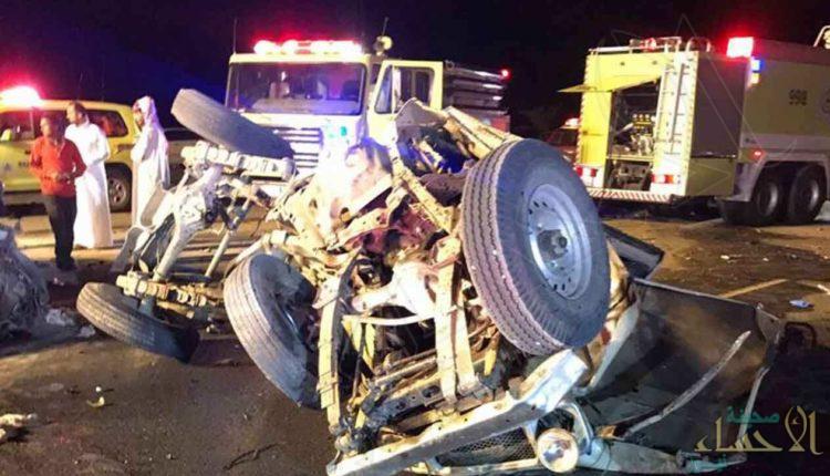 حادث مروِّع يودي بحياة شخص ويصيب 7 آخرين