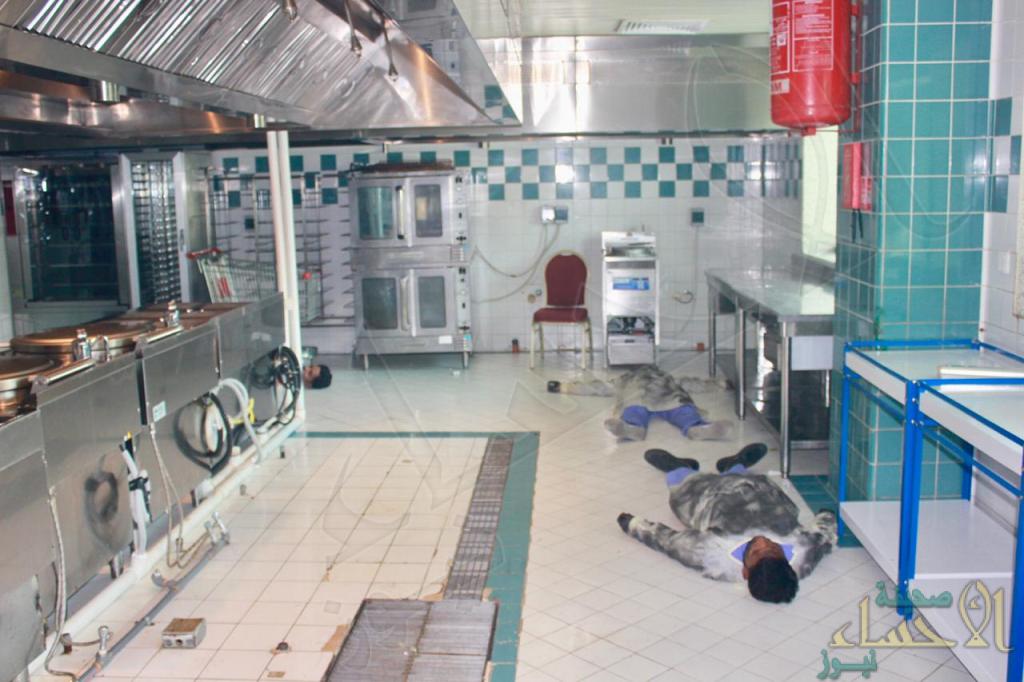 بالصور .. السيطرة على حريق فرضي بمستشفى الأمير سعود بن جلوي بالأحساء