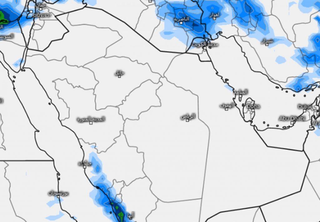 """""""المسند"""" يُوضح توقعاته للحالة المطرية المرتقبة بعد يومين"""