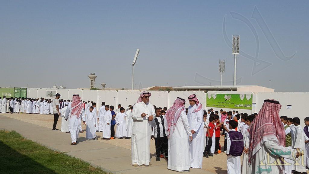 """في ٧٣ ثانية .. إخلاء فرضي لمدرسة """"الأمير محمد بن فهد"""" الابتدائية"""