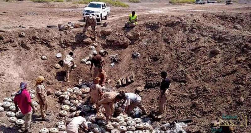 """""""مسام"""" ينزع 2700 لغم حوثي منذ بداية الشهر ويتلف 620 عبوة في عدن"""