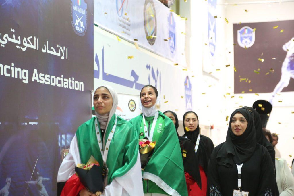 """السعودية تحصد أول ذهبية """"نسائية"""" في بطولة الخليج بالكويت"""