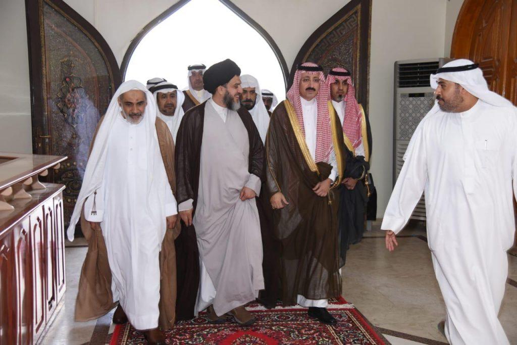 """الأمير بدر بن جلوي يُعزي أسرة السلمان لوفاة """"السيد محمد علي"""""""