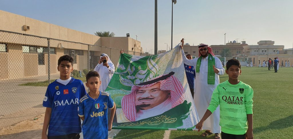 """إبتدائية """"الأمير محمد بن فهد"""" …. تُشارك طلبتها ذكرى البيعة الــ""""5″"""