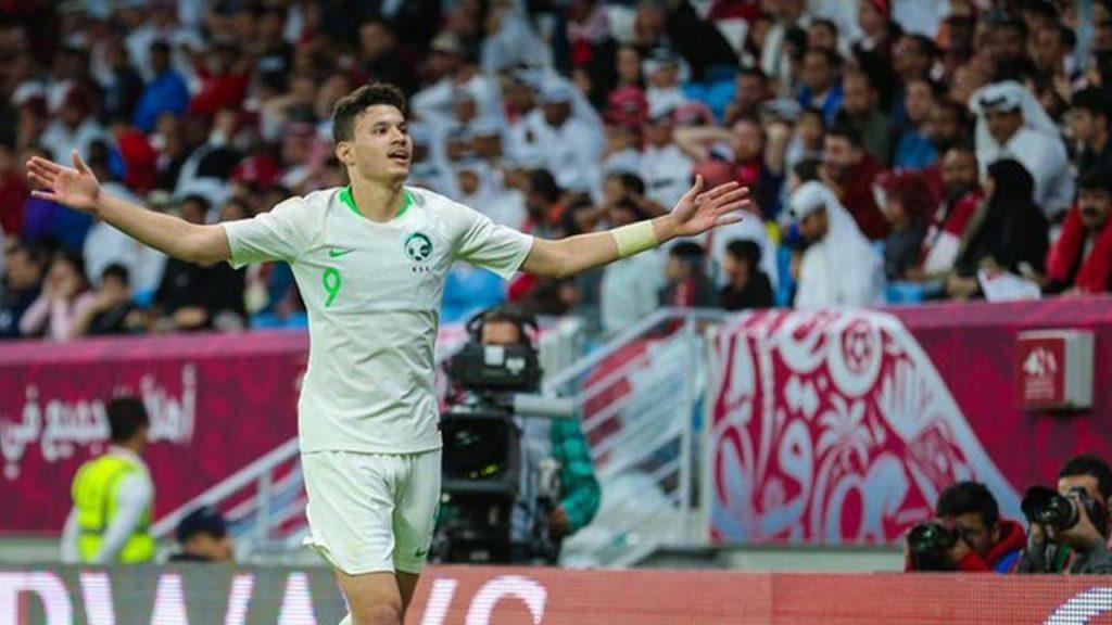 عبدالله الحمدان أفضل لاعب في مباراة السعودية وقطر