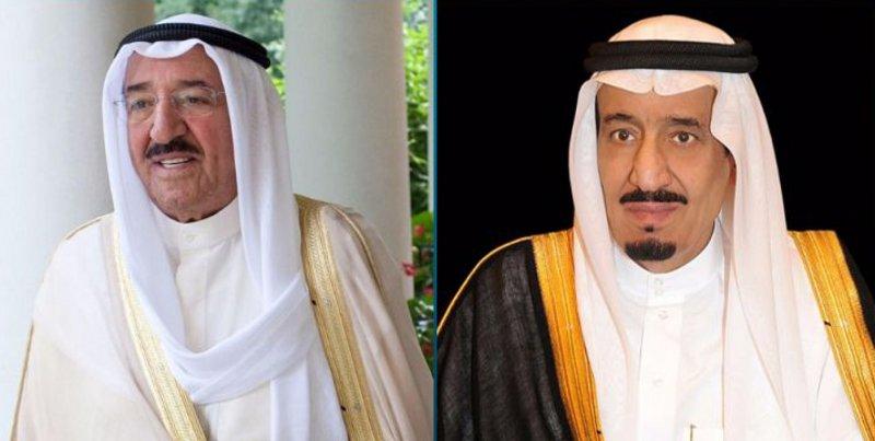 أمير الكويت وولي عهده يهنئان خادم الحرمين بالذكرى الخامسة لتوليه مقاليد الحكم