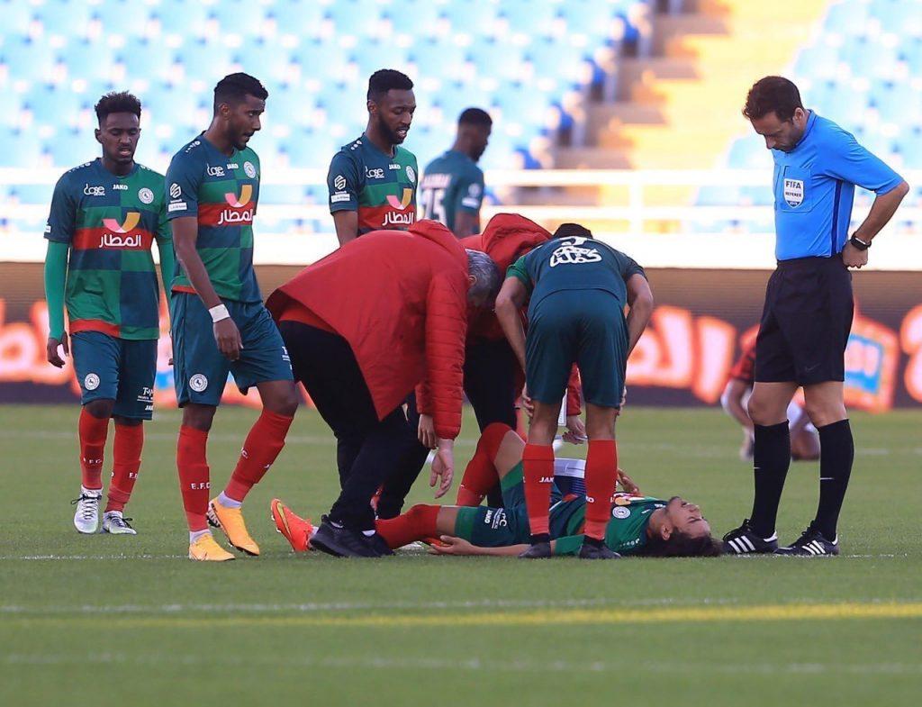 """نادي الاتفاق يُعلن عن تعرّض البرازيلي روجيريو للإصابة """" قطع في الرباط الصليبي """""""