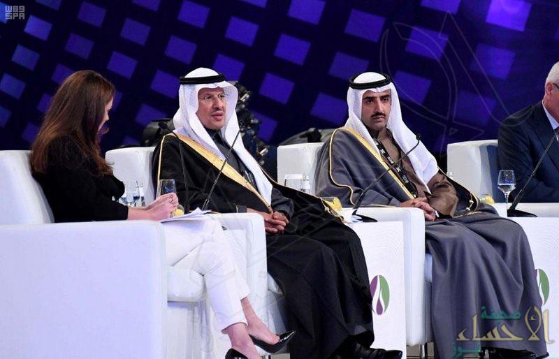 """نيابة عن """"ولي العهد"""" .. وزير الطاقة يفتتح مؤتمر تقنية البترول الدولي 2020."""