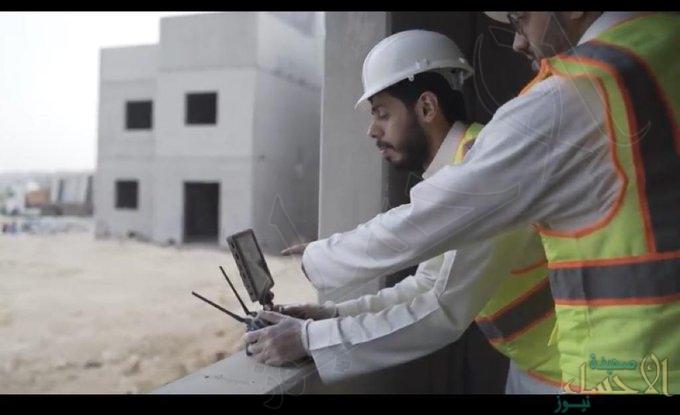 """بالصور.. """"الدرونز"""" للكشف الاحترازي على العاملين بمشاريع """"سكني"""" بالمملكة"""