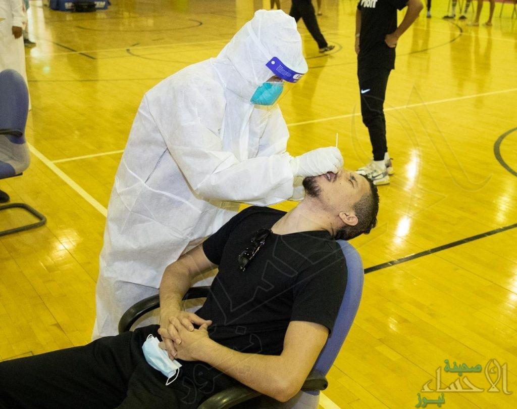 بالصور… لاعبو الفتح يخضعون للمسحة الطبية الخاصة بفيروس كورونا المستجد