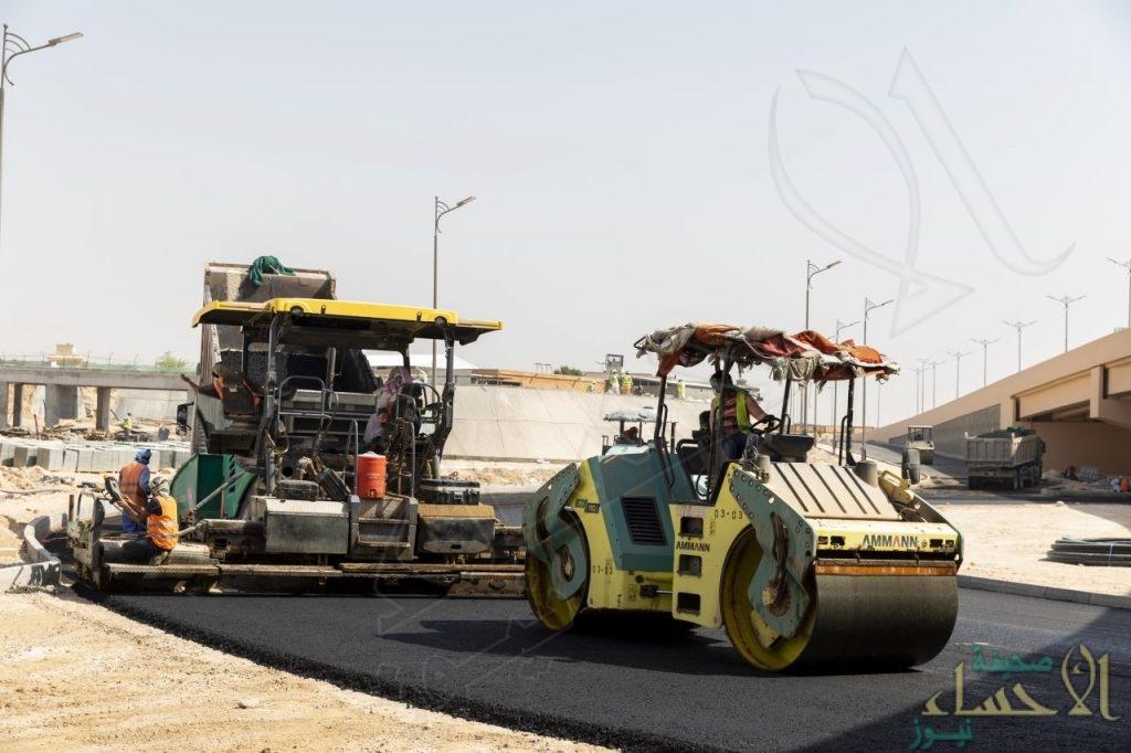 """""""أمانة الأحساء"""" تُعلن إغلاق مؤقت لتحويل مسار طريق الملك عبد الله """"الجزء الشمالي"""""""