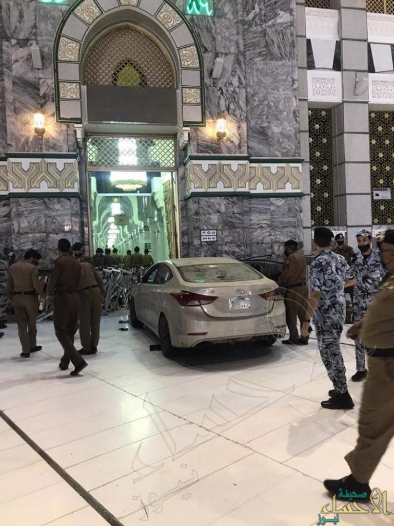 """إمارة """"مكة المكرمة"""" تكشف تفاصيل حادثة """"ارتطام سيارة"""" في أحد أبواب المسجد الحرام"""