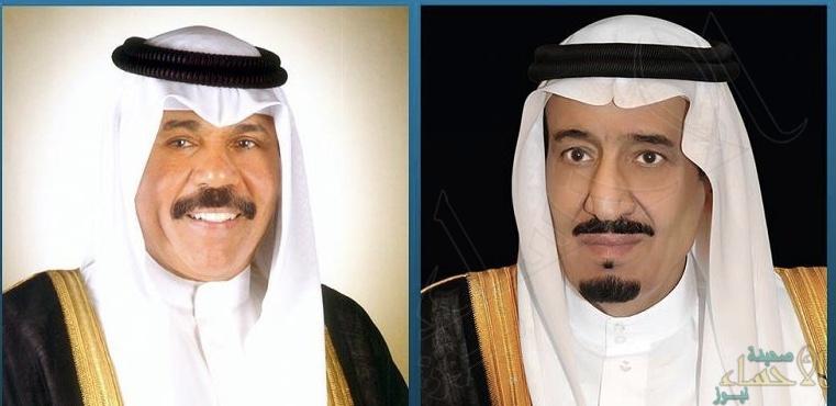 خادم الحرمين الشريفين يعزي أمير دولة الكويت في وفاة الشيخ خليفة الصباح