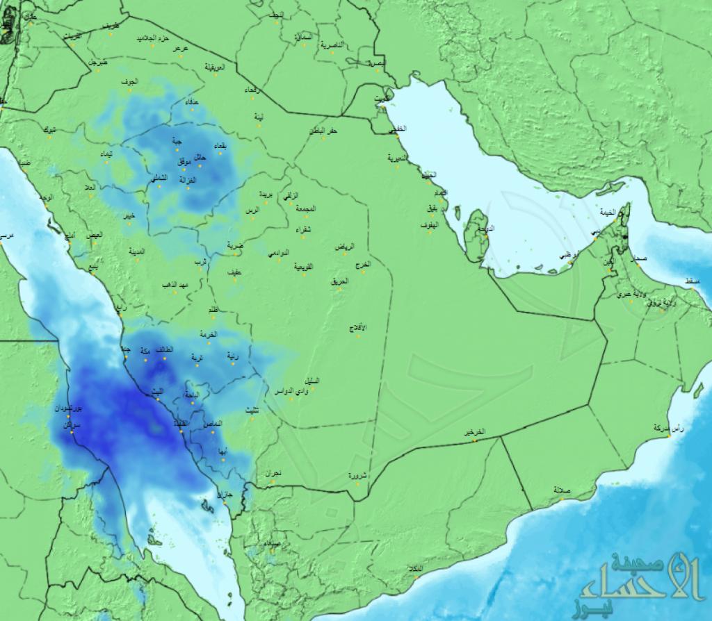 """""""الحصيني"""" يتوقع هطول أمطار متفاوتة خلال الساعات المقبلة على هذه المناطق"""