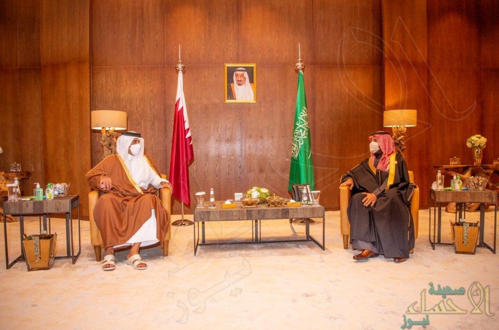 ولي العهد يلتقي أمير قطر