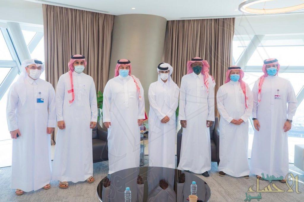 وفد الاتحاد السعودي برئاسة المسحل يزور مقر الإتحاد القطري لكرة القدم