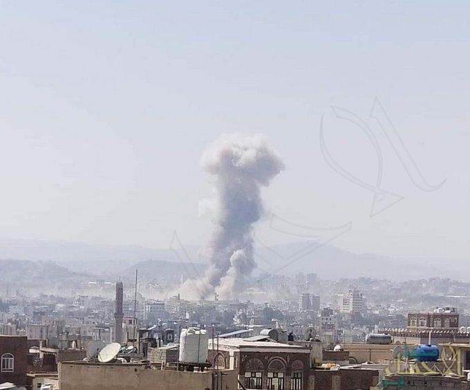 طائرات التحالف تستهدف مخازن وقود صواريخ بالستية لمليشيا الحوثي الإرهابية