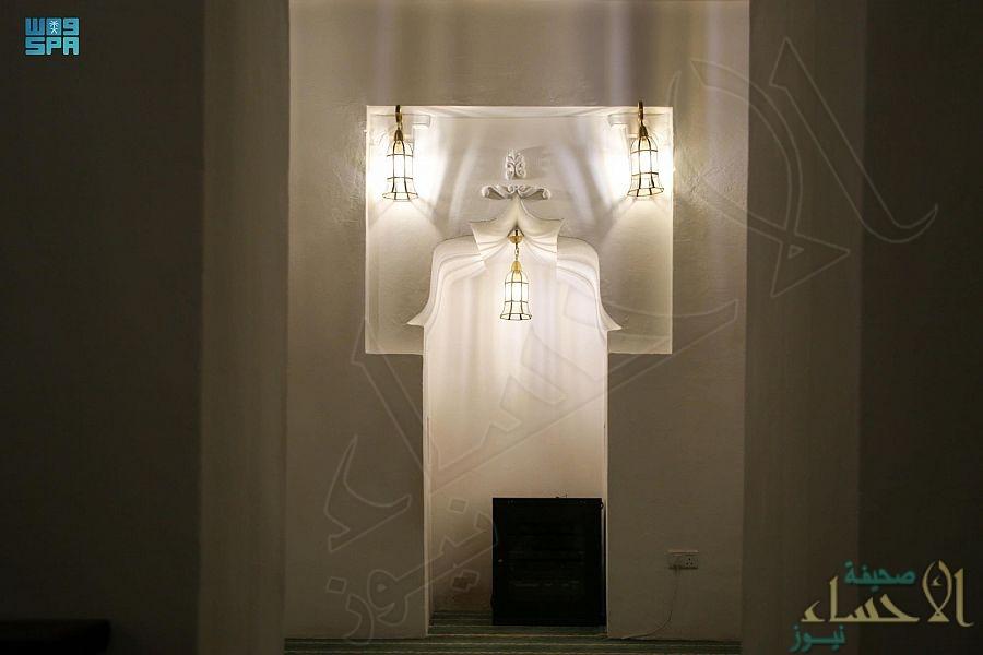 """في الأحساء … """"مسجد الحبيش"""" يعود لاستقبال المصلين بعد ترميمه بمشروع """"ولي العهد"""" للمساجد التاريخية (صور)"""