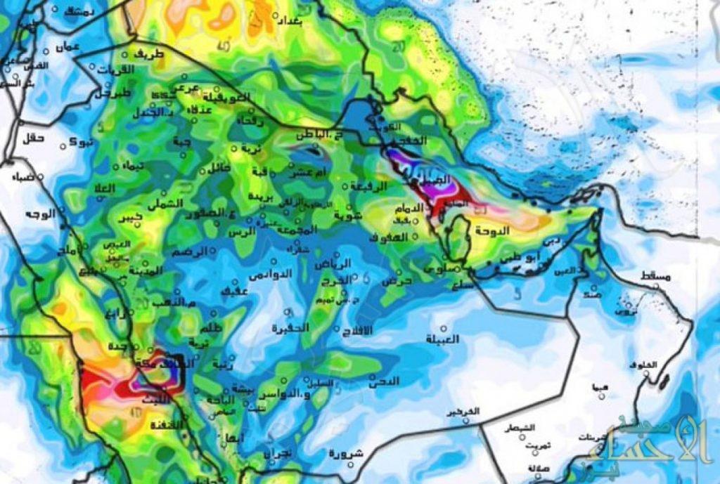 توقعات الطقس.. سحب رعدية ممطرة ورياح نشطة على هذه المناطق