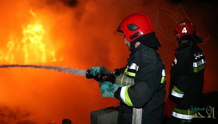 حريق كبير في مستودع اسطوانات للغاز المسال وسط إيران