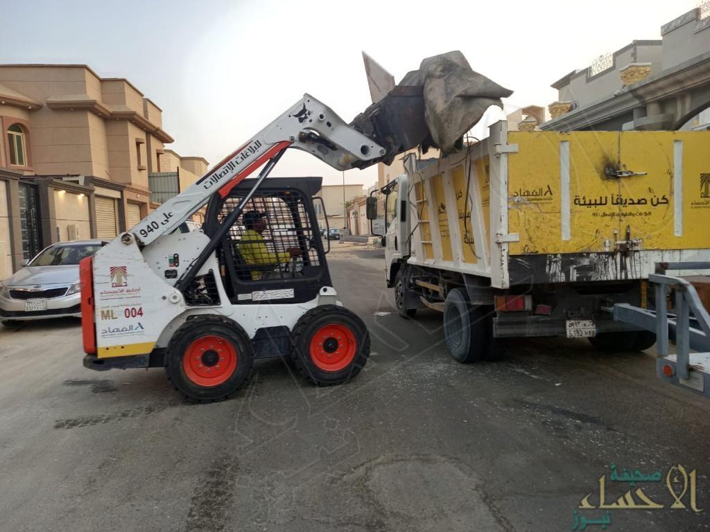 """أمانة الأحساء ترفع 29 ألف طن نفايات وتُطبق الجزاءات البلدية لـ""""56″ مخالفة (صور)"""