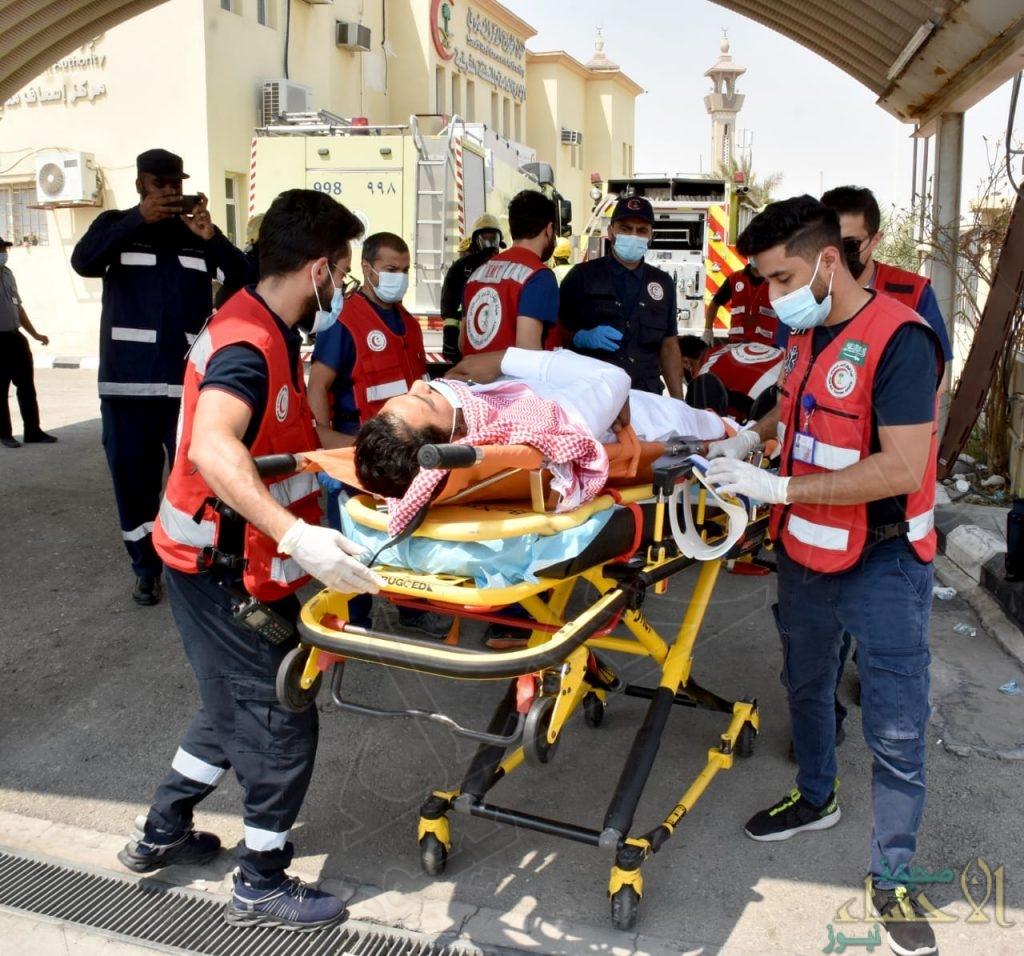 """3 فرق إسعافية تُباشر فرضية """"التماس كهربائي"""" بمقر فرع """"الهلال الأحمر"""" في الدمام"""