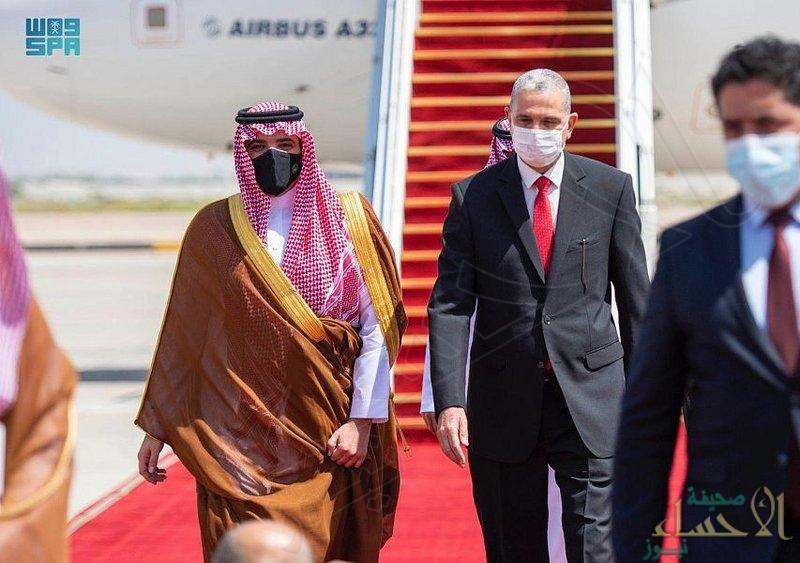"""سمو """"وزير الداخلية"""" يصل إلى العراق في زيارة رسمية"""