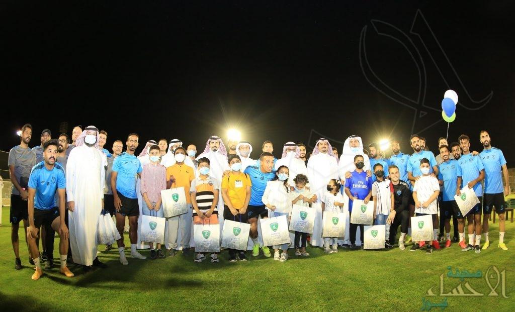"""بحضور """"الجعفري"""" .. شراكة تعليمية رياضية تجمع نادي الفتح ومركز تكامل لتنمية الأيتام"""