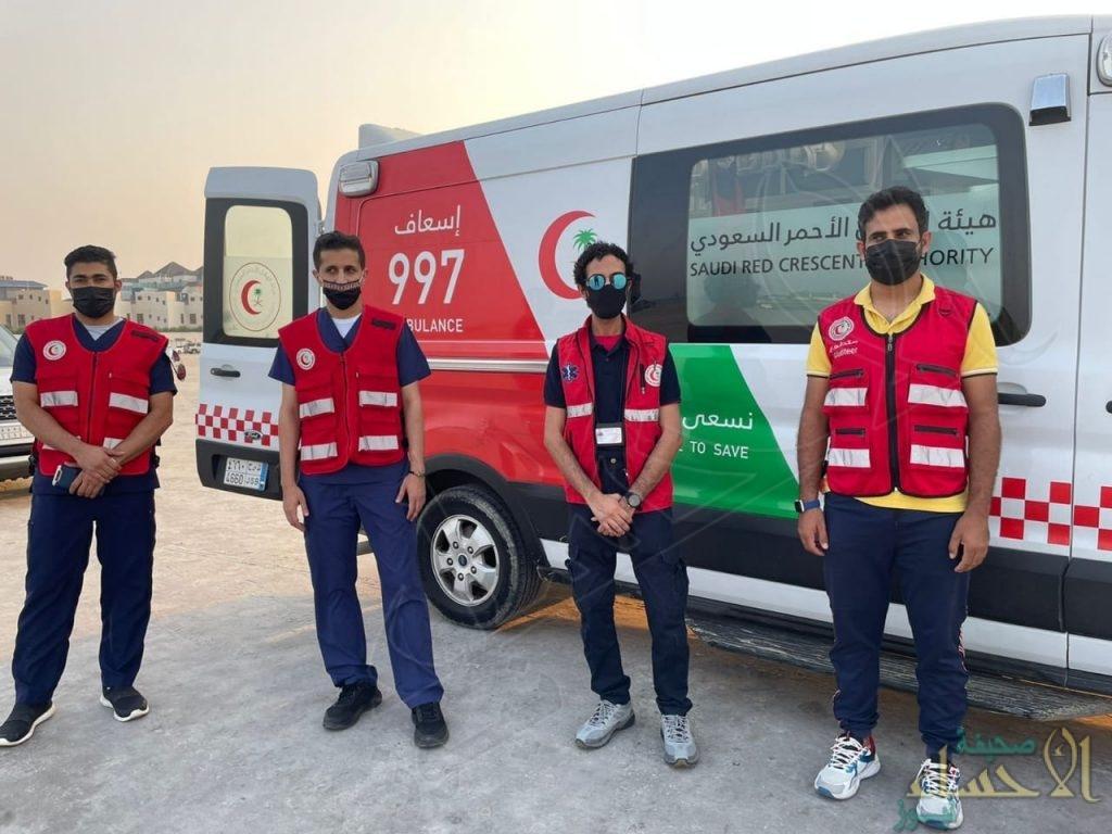 """متطوعو """"الهلال الأحمر"""" بالشرقية يُنفذون أكثر من 9600 ساعة عمل خلال أغسطس (صور)"""