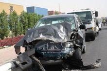 عدسة ( الأحساء نيوز ) ترصد صباح اليوم حادث مروري في شارع الثريات تسبب في شل حركة المرور أكثر من ساعة .