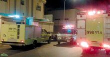 حريق في منزل بالهفوف يسفرعن إصابة مقيم وإنقاذ ثلاثة منهم  .
